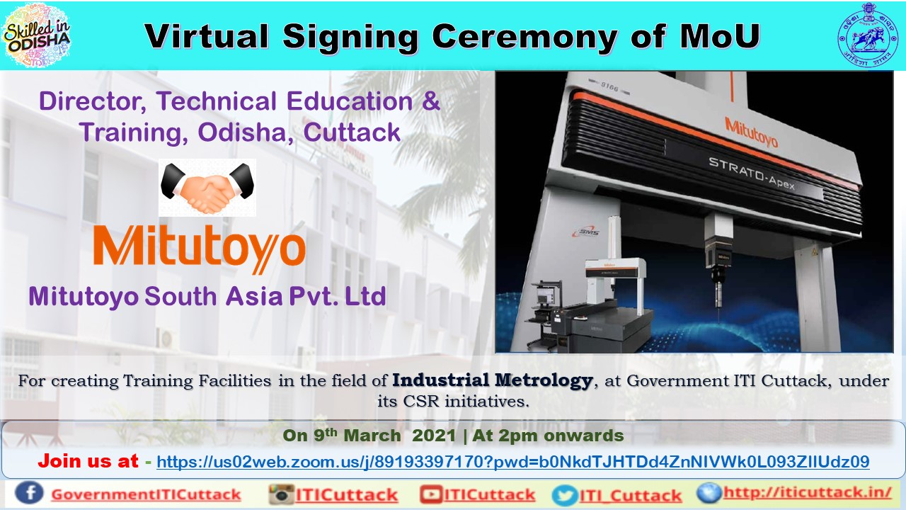"""23rd MOU with a Japan Based Company """"Mitutoyo South Asia Pvt. Ltd"""""""